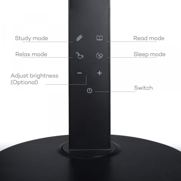 Lampa de birou cu LED TaoTronics TT-DL10, incarcare USB, 4 culori de lumina, 600 lumeni 1