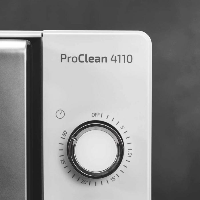 Cuptor cu microunde Cecotec ProClean 4110, 700 W, Mecanic, 23 l, 6 trepte, Tehnologie 3DWave, FullCrystal, Timer 30 minute [1]
