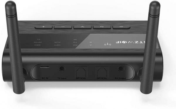 Transmitator si Receptor Audio  BlitzWolf BW-BR5 Bluetooth 5.0, Cablu Optic & Jack 3.5mm, conectare multipla 1