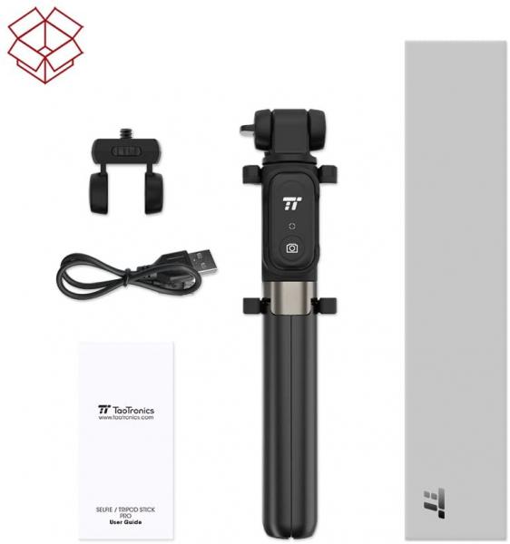 Selfie Stick Tripod TaoTronics TT-ST002, 3 in 1 cu Telecomanda Bluetooth detasabila 2
