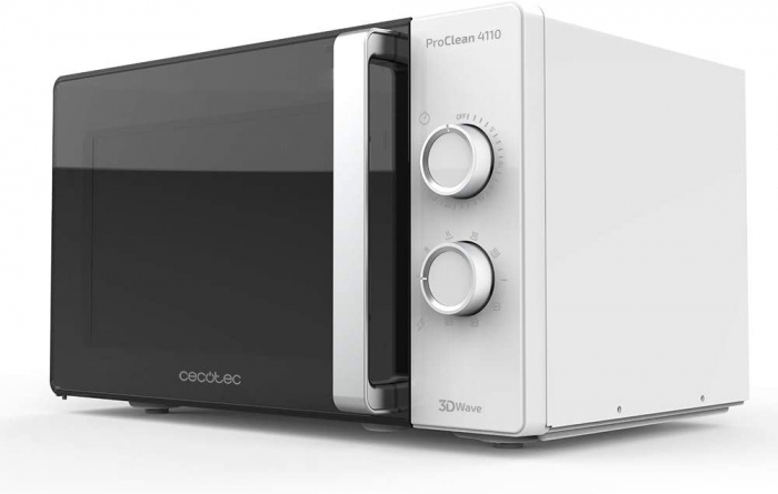 Cuptor cu microunde Cecotec ProClean 4110, 700 W, Mecanic, 23 l, 6 trepte, Tehnologie 3DWave, FullCrystal, Timer 30 minute [0]