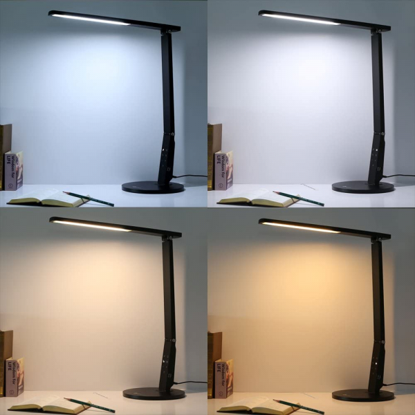 Lampa de birou cu LED TaoTronics TT-DL10, incarcare USB, 4 culori de lumina, 600 lumeni 3