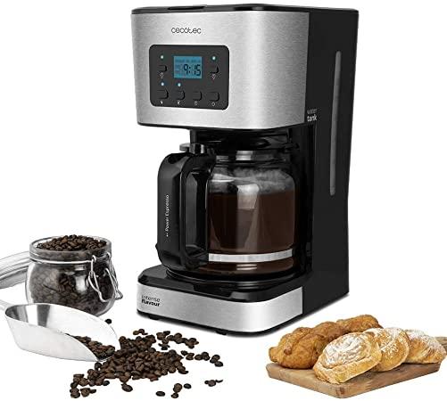 Cafetiera cu Filtru , CECOTEC 1555, 950W, 1.5 L, Cana Sticla, Timmer Programabil, mentine cafeaua fierbinte, Argintiu Negru [1]