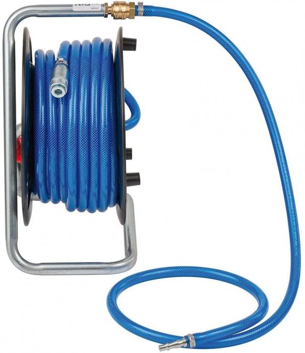 Furtun Aer comprimat compresor Brennenstuhl cu tambur, anti rasucire, 20m, Ø 9/15mm, 15 bari 0