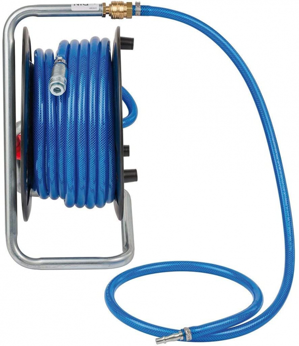 Furtun Aer comprimat compresor Brennenstuhl cu tambur, anti rasucire, 20m, Ø 6/12mm, 15 bari 0