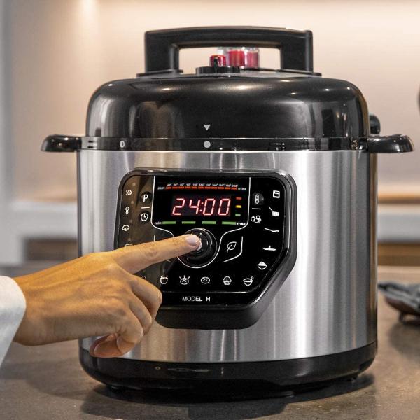 Multicooker cu gatire la presiune Cecotec GM H, 1000 W, 6 L, 19 de programe, Vas antiadeziv detasabil [9]