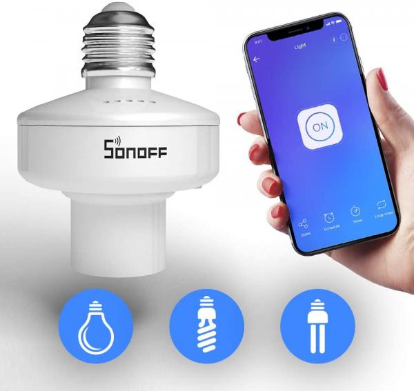 Dulie Smart WiFi + RF 433 Sonoff Slampher R2, E27 2
