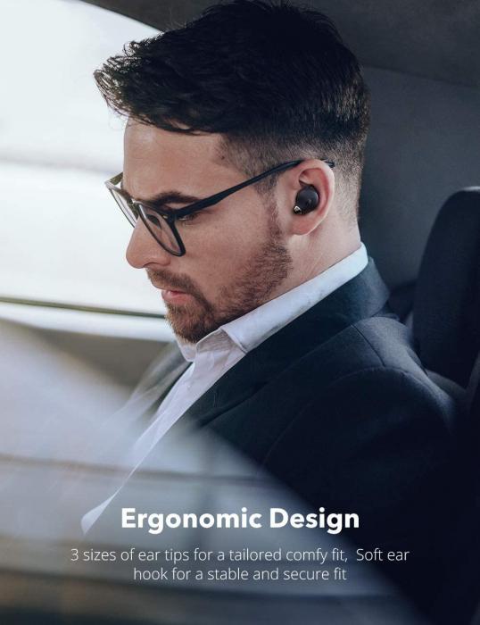 Casti wireless TaoTronics SoundLiberty 79 TWS, sunet puternic si clar,  Smart AI Noise Reduction Technology, 30 ore, IPX8, USB-C [8]