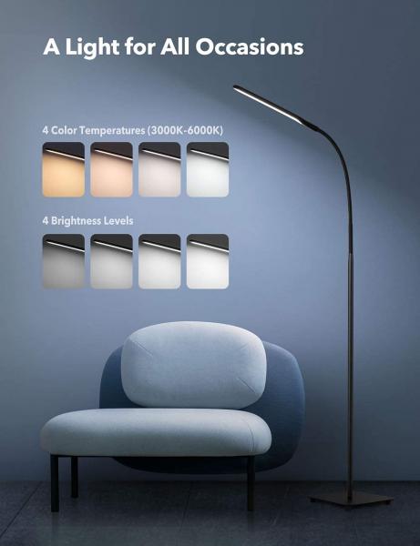 Lampa de podea LED TaoTronics TT-DL072, ajustabile 4 culori de culoare, 4 niveluri de luminozitate [7]