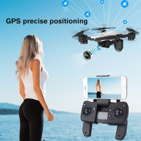 Drona KK12 GPS,  camera 1080p cu transmisie Wifi pe smartphone, Geanta transport 4