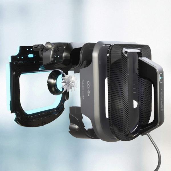 Robot curatare geamuri Cecotec Conga WinDroid 980 Connected, Aplicatie Smartphone, Telecomanda, Stergere uscata si umeda,  5 moduri de curatare [5]