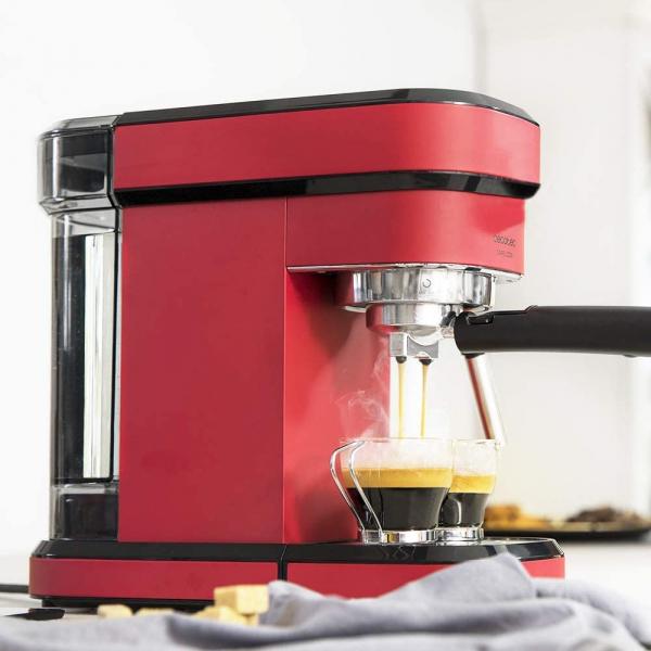 Espressor manual Cecotec Cafelizzia 790 Shiny 1583, 1350 W, Pompa de aburi 20 bar, Sistem de incalzire rapid, Capacitate 1.2 L 1
