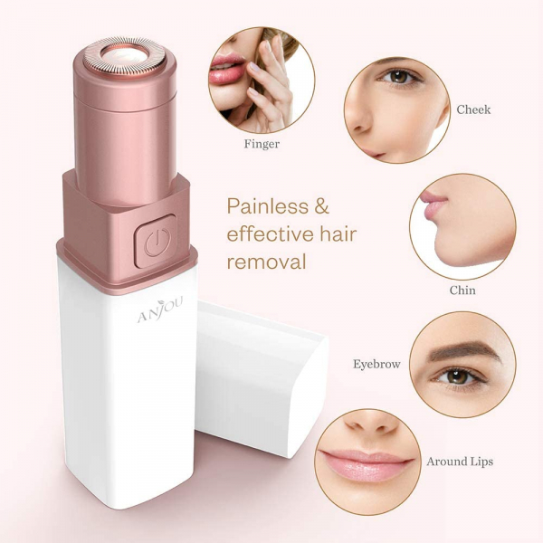 Trimmer facial femei Anjou AJ-PCA024, pentru mustata, parul facial, baterie reincarcabila [4]