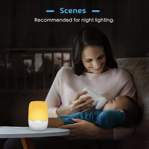 Lampa de VegheSmart Meross MSL420 WiFi, Control iluminare si culoare 3