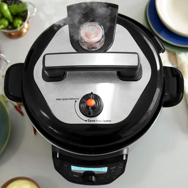 Multicooker cu gatire la presiune Cecotec GM H, 1000 W, 6 L, 19 de programe, Vas antiadeziv detasabil 6