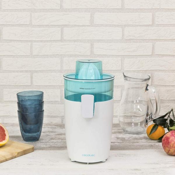 Storcator de citrice Cecotec Zitrus TowerAdjust Easy, 350W filtru pulpa reglabil, BPA free, Alb 5