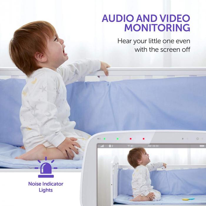 Baby Monitor Video pentru bebelusi VAVA VA-IH006, Display 5 inch, Raza 300 m, 720P, Night Vision, Alarma, Temperatura, Unghi larg, Zomm, Control directional 2