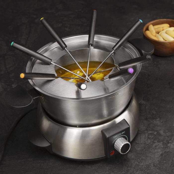 Set fondue electric Cecotec Fun GourmetFondue 1000 W, termostat reglabil ,1.6 litri, 8 furculite [2]