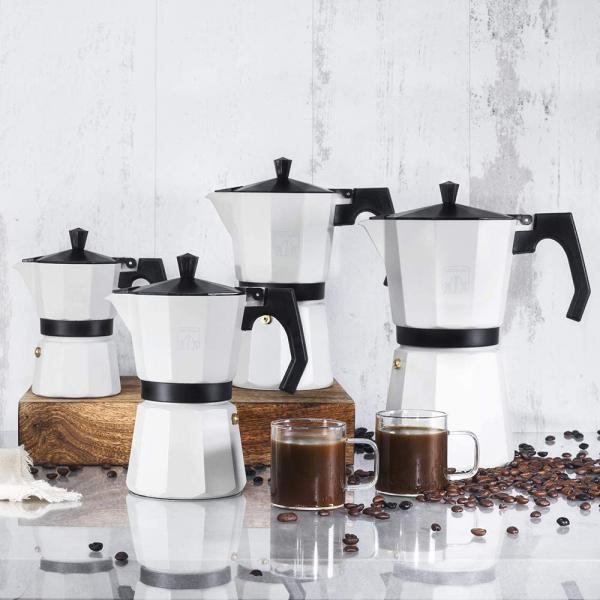 Cafetiera Cecotec Mimoka 600, 300 ml, 6 cani de cafea, inductie, Bej [3]
