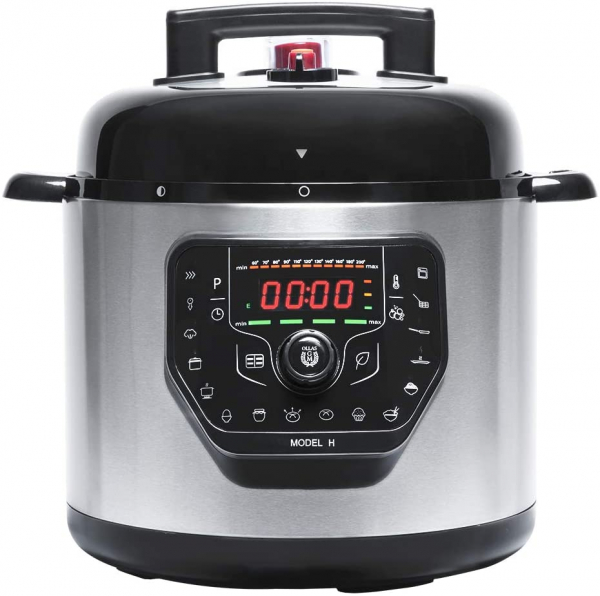 Multicooker cu gatire la presiune Cecotec GM H, 1000 W, 6 L, 19 de programe, Vas antiadeziv detasabil 0