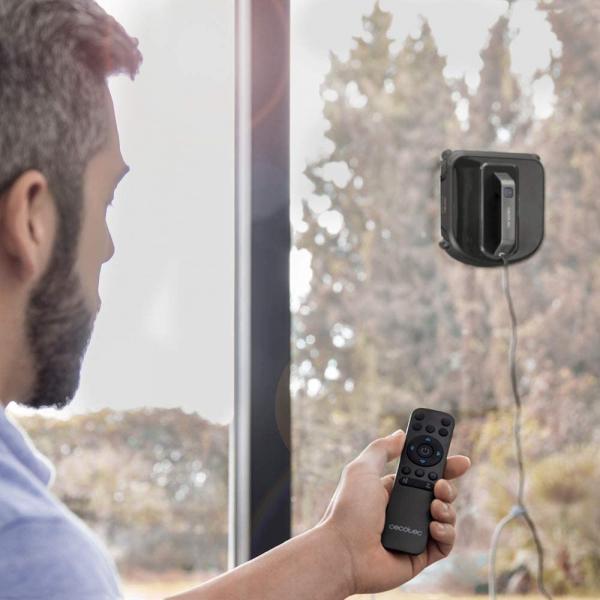 Robot curatare geamuri Cecotec Conga WinDroid 980 Connected, Aplicatie Smartphone, Telecomanda, Stergere uscata si umeda,  5 moduri de curatare [6]