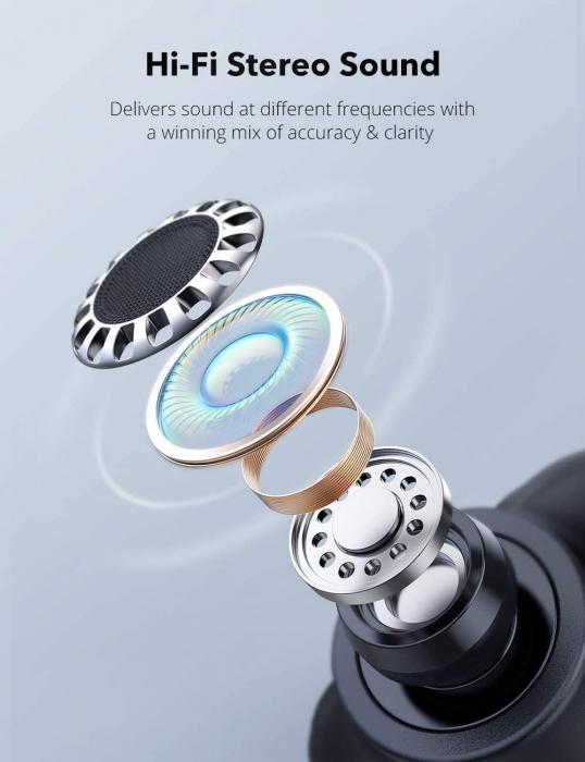 Casti wireless TaoTronics SoundLiberty 79 TWS, sunet puternic si clar,  Smart AI Noise Reduction Technology, 30 ore, IPX8, USB-C [3]