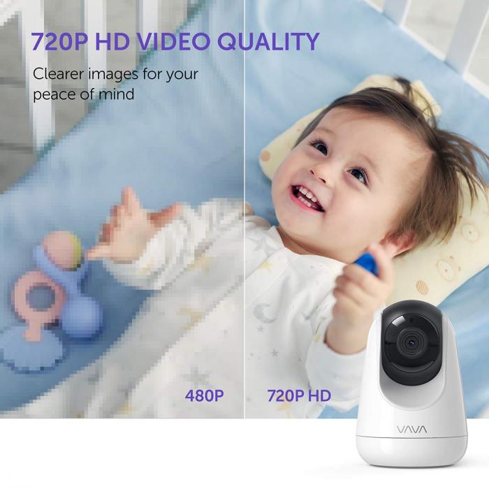 Baby Monitor Video pentru bebelusi VAVA VA-IH006, Display 5 inch, Raza 300 m, 720P, Night Vision, Alarma, Temperatura, Unghi larg, Zomm, Control directional 3