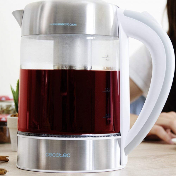Fierbator cu filtru de ceai  2 in 1 Cecotec ThermoSense 370 Clear, 2200 W, 1.7L, Inox, oprire automata [4]
