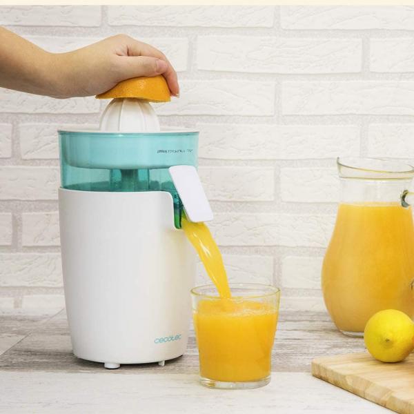 Storcator de citrice Cecotec Zitrus TowerAdjust Easy, 350W filtru pulpa reglabil, BPA free, Alb 6