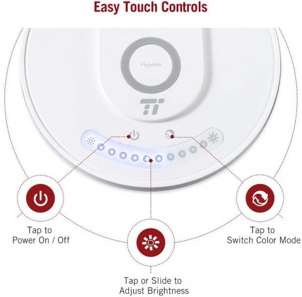 Lampa LED de birou TaoTronics TT-DL043, cu incarcator wireless, control touch, USB, 12W, 410 lm [4]