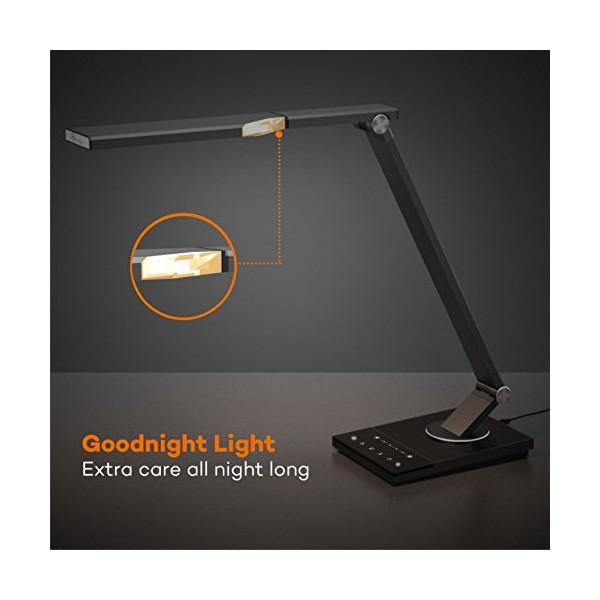 Lampa de birou LED TaoTronics TT-DL16, protectie ochi, control touch, 5 moduri, USB, lumina de noapte [6]