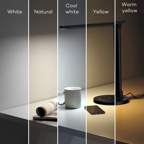 Lampa de birou LED TaoTronics TT DL13 control Touch, 5 moduri, Protectie Ochi. 6