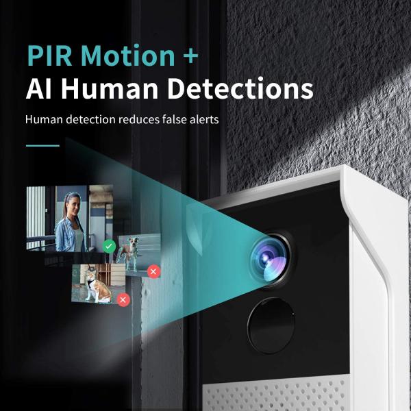 Interfon Smart cu camera HeimVision HMB1, Wireless, 1080P HD, Motion Detection, Convorbire bidirectionala, unghi larg, Control aplicatie [3]