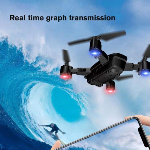 Drona KK12 GPS,  camera 1080p cu transmisie Wifi pe smartphone, Geanta transport 8