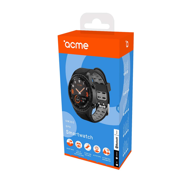 Ceas smartwatch Acme SW302, HR, GPS, Black 7
