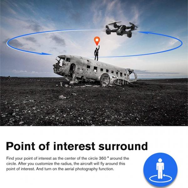 Drona KK12 GPS,  camera 1080p cu transmisie Wifi pe smartphone, Geanta transport 10