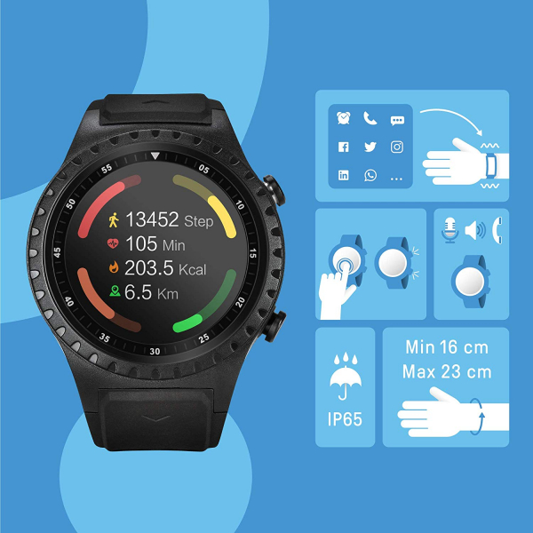 Ceas smartwatch Acme SW302, HR, GPS, Black 2