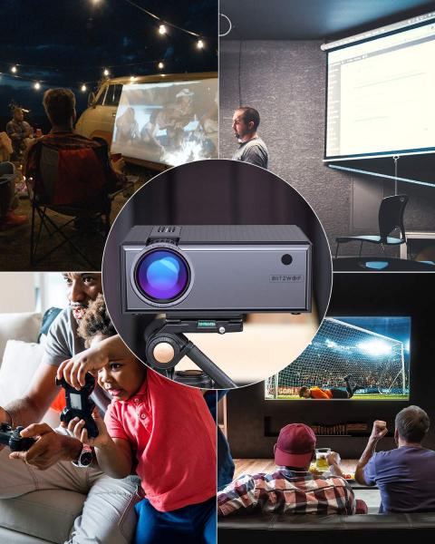 Videoproiector BlitzWolf BW-VP1, 2800 Lumens, Native 720p, LED, HDMI, VGA, AV, USB 6