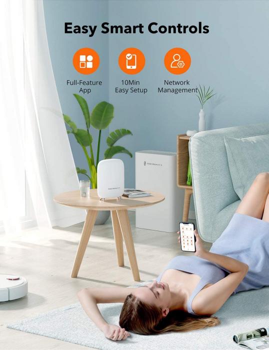 Sistem Wi-Fi Mesh Taotronics Tri-Band (2-pack) AC3000 Gigabit cu acoperire completa pentru casa 2