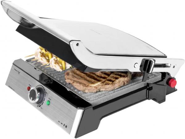 Gratar electric Cecotec 3 in 1 Rock'n Grill Pro , 2000 W, regulator de putere, piatra antiaderenta, gratar electric, plita si aparat de facut sandvisuri [0]