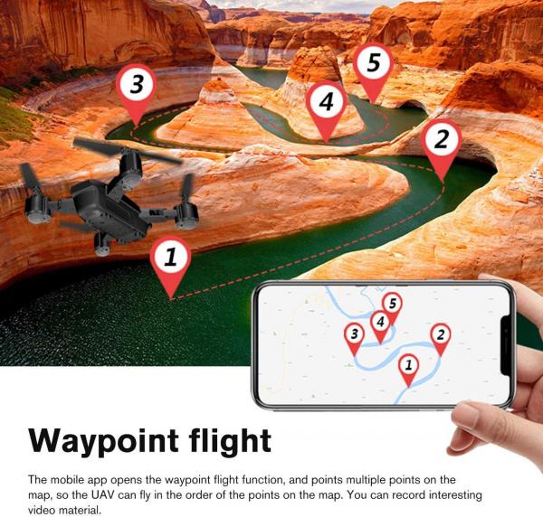 Drona KK12 GPS,  camera 1080p cu transmisie Wifi pe smartphone, Geanta transport 9