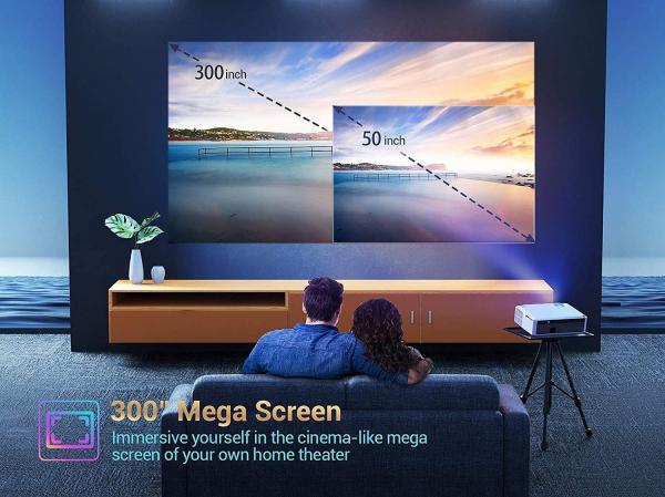 Videoproiector VANKYO Performance V630, 6000 Lumeni, Native 1080p, LED, HDMI, VGA, AV, USB, Geanta de transport, Telecomanda, Cablu HDMI [3]