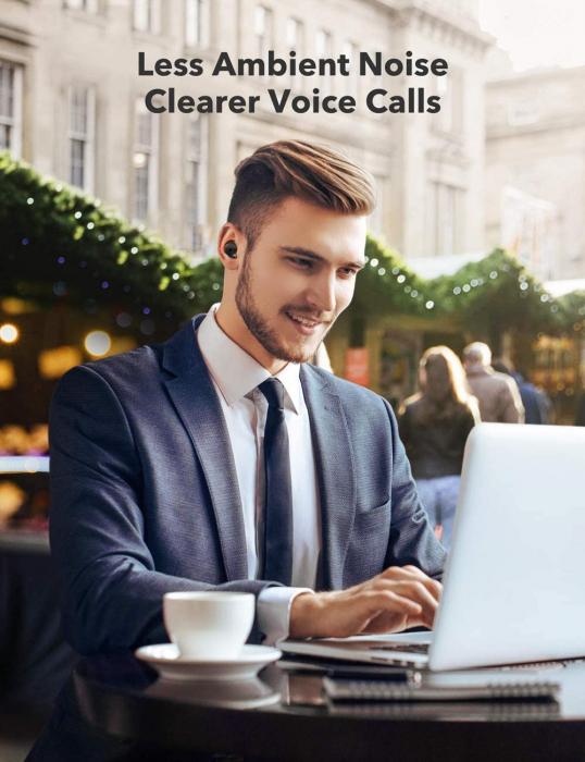 Casti wireless TaoTronics SoundLiberty 79 TWS, sunet puternic si clar,  Smart AI Noise Reduction Technology, 30 ore, IPX8, USB-C [5]