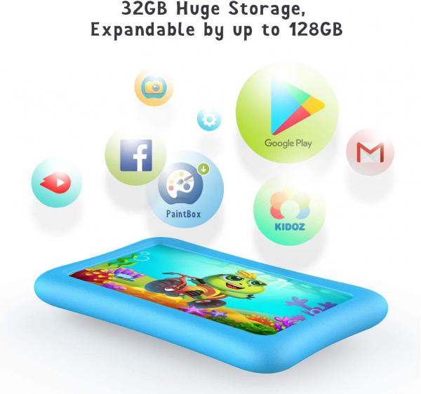 Tableta copii de 7 inch HD Vankyo Z1, Quad-Core Android 8.1 Oreo 1GB, 32GB - resigilat [3]