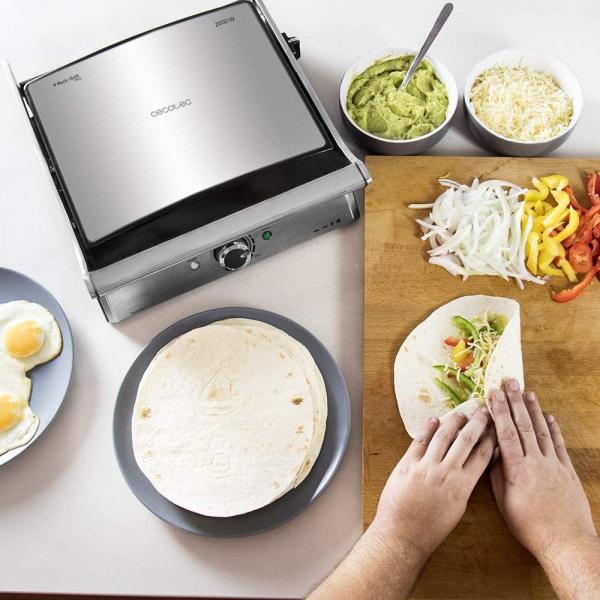 Gratar electric Cecotec 3 in 1 Rock'n Grill Pro , 2000 W, regulator de putere, piatra antiaderenta, gratar electric, plita si aparat de facut sandvisuri - Resigilat 5