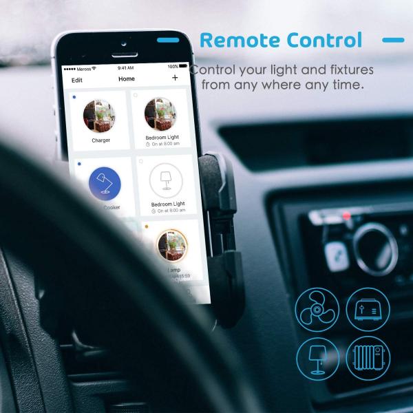 Intrerupator Smart Meross MSS550 WiFi, 2 sensuri 8