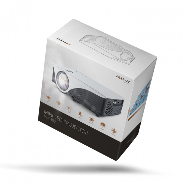 Video proiector LED Forever MLP-100 cu Wifi si Android, [4]