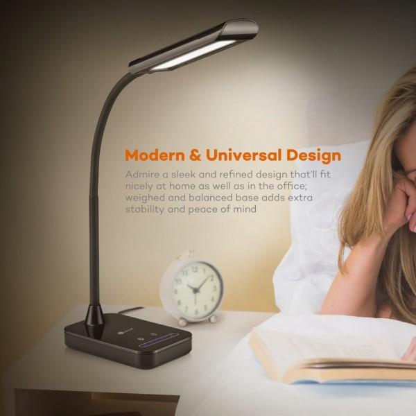 Lampa de birou LED TaoTronics TT-DL11 control Touch, 5 moduri, protectie ochi, 7W 7