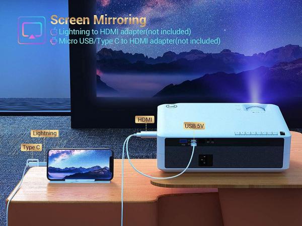 Videoproiector VANKYO Performance V630, 6000 Lumeni, Native 1080p, LED, HDMI, VGA, AV, USB, Geanta de transport, Telecomanda, Cablu HDMI [7]