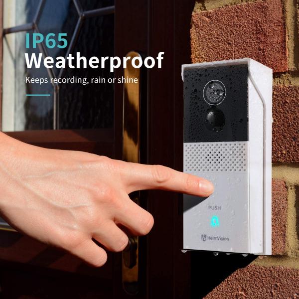 Interfon Smart cu camera HeimVision HMB1, Wireless, 1080P HD, Motion Detection, Convorbire bidirectionala, unghi larg, Control aplicatie [7]